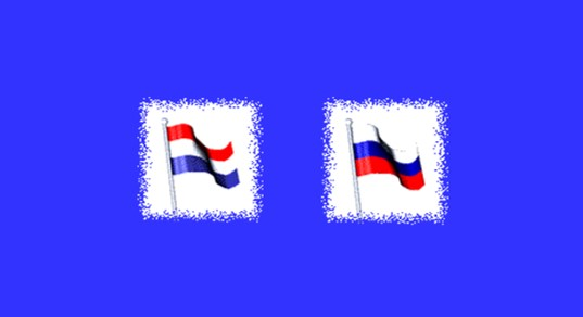 Netherlands, Russian Federation flags
