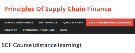 Online course Supply Chain Finance by Jan Jansen